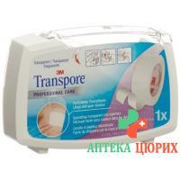 3M Transpore фиксирующий пластырь 12.5мм x 5m transparent