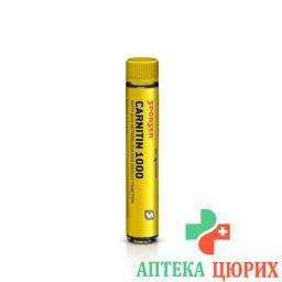 Спонсер Карнитин 1000 раствор со вкусом персика 30 ампул по 25 мл