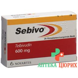 Себиво 600 мг 28 таблеток покрытых оболочкой