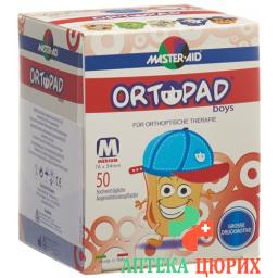 Ortopad Occlusionspflast Medium Boys 2-4j 50 штук