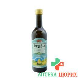 Морга Омега 3 + 6 органическое кулинарное масло холодного отжима 500 мл