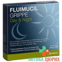 Флуимуцил Грипп день/ночь 16 шипучих таблеток
