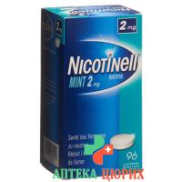 Никотинелл Мята 2 мг 96 таблеток для рассасывания