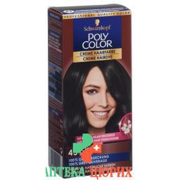 Polycolor крем цвет волос 45 Schwarz 90мл