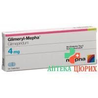Глимерил Мефа 4 мг 30 таблеток