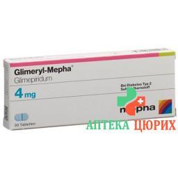 Глимерил Мефа 4 мг 120 таблеток