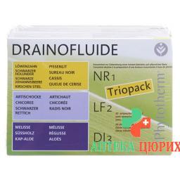 Drainofluide Pack Ass Nr 1 Lf 2 Di 3 60x 10мл