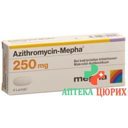 Азитромицин Мефа 250 мг 6 таблеток покрытых оболочкой