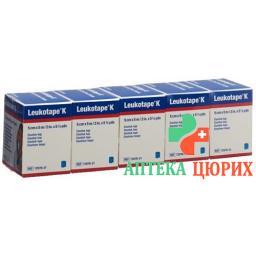 Leukotape K elastischer Klebeverband 5m x 5см Blau 5 штук