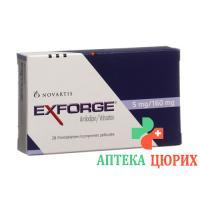 Эксфорж 5 мг / 160 мг 98 таблеток покрытых оболочкой
