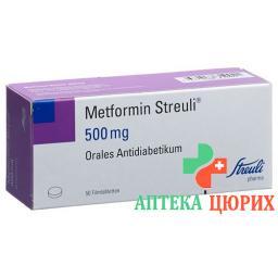 Метформин Штройли 500 мг 50 таблеток покрытых оболочкой