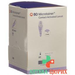 BD Microtainer ланцеты 1.5мм x 30г Lila 200 штук