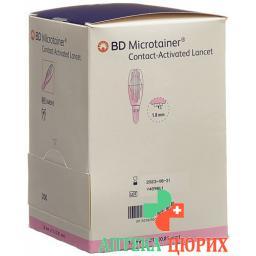 BD Microtainer ланцеты 21gx1.8мм Pink 200 штук