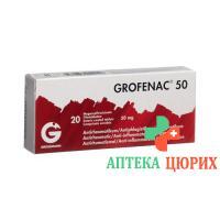 Грофенак 50 мг 20 таблеток покрытых оболочкой