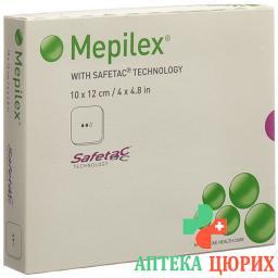 Mepilex Schaumverband Safetac 10x12см Silik 5 штук