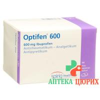Оптифен 600 мг 100таблеток покрытых оболочкой