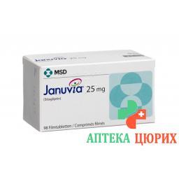 Янувия 25 мг 98 таблеток покрытых оболочкой