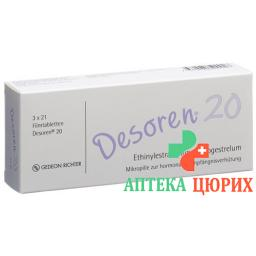Дезорен-20 3 x 21 таблетка