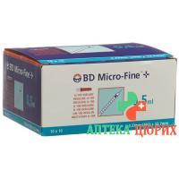 BD Microfine+ U100 Insulin Spritze 0.33мм x 12.7мм 0.5мл