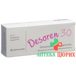 Дезорен-30 6 x 21 таблетка