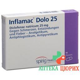 Инфламак Доло 25 мг 10 капсул