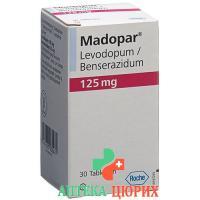 Мадопар 125 мг 30 таблеток