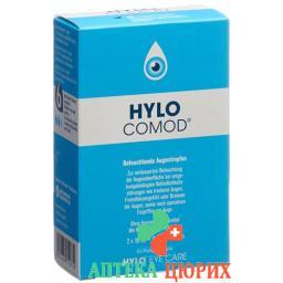 Хило Комод глазные капли 2 флакона по10 мл