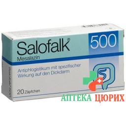 Салофальк 500 мг 20 суппозиториев