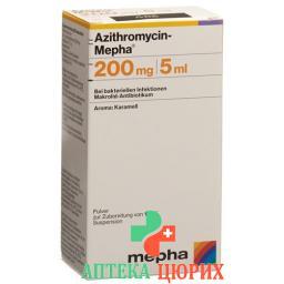 Азитромицин Мефа суспензия 200 мг / 5 мл флакон 30 мл