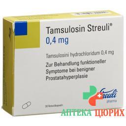 Тамсулозин Штройли 0,4 мг 30ретардкапсул