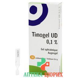 Тимогель УД гель для глаз в контейнерах для однократного приема 0.1% 30 монодоз по 0.4 г