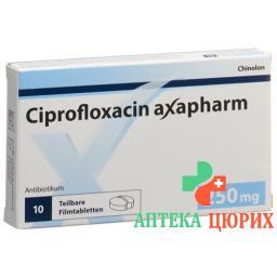 Ципрофлоксацин Аксафарм 250 мг 10 таблеток покрытых оболочкой