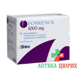 Фосренол 1000 мг 90 жевательных таблеток