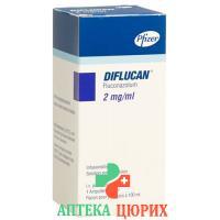 Дифлюкан раствор для в/в инъекций 200 мг / 100 мл флакон 100 мл