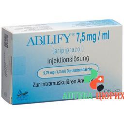 Абилифай раствор для инъекций 7,5 мг/мл флакон 1,3 мл