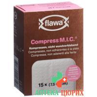 Flawa Compress M.I.C компресс 5x7.5см 15 штук
