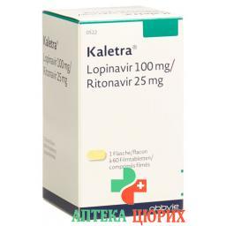 Калетра 100 мг / 25 мг 60 таблеток покрытых оболочкой