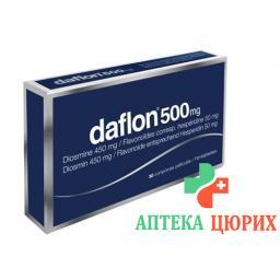 Дафлон 500 мг 30 таблеток покрытых оболочкой