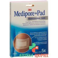 3M Medipore + Pad 10x10см / Wundkissen 5x5.5см 5 штук