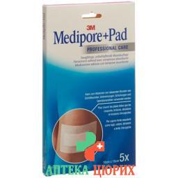 3M Medipore + Pad 10x15см / Wundkissen 5x10.5см 5 штук