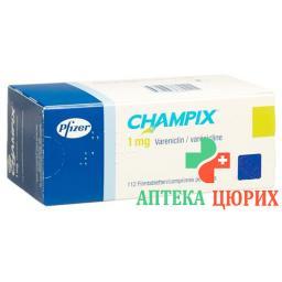 Чампикс 1 мг 112 таблеток покрытых оболочкой