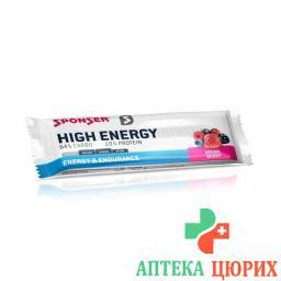 Sponser High Energy Bar Berry 45г