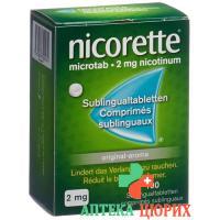 Никоррете 2 мг 100 сублимированных таблеток