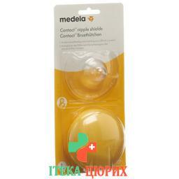 Медела Нагрудные контактные колпачки L 24 мм 1 пара с коробкой