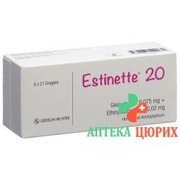 Эстинет-20 6 x 21 таблетка