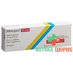 Методжект раствор для инъекций 7,5 мг / 0,15 мл 1 предварительно заполненный шприц 0,15 мл
