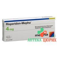 Рисперидон Мефа 4 мг 20 таблеток покрытых оболочкой
