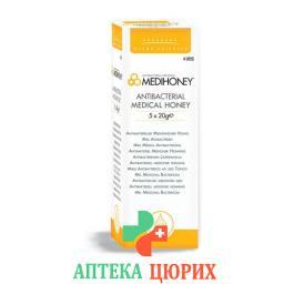 Medihoney Medical Honey Antibacteria 5 в тюбике 20г