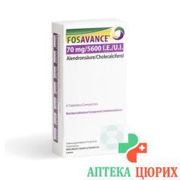Фосаванс 70/5600 4 еженедельные таблетки