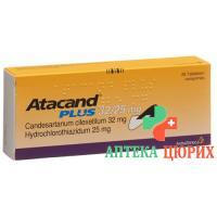 Атаканд Плюс 32/25 мг 98 таблеток